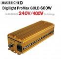 Maxibright ProMax GOLD elektronický předřadník 600W, 240/400V se čtyřpolohovou regulací Příslušenství Pouze předřadník