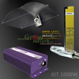 KIT 1000W Waveflector Vegagreen XXL + výbojka ELEKTROX SUPER DUAL + předřadník GIB NXE 1000W