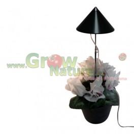Parus iSun LED přisvícení pokojových rostlin - 7W - šedý